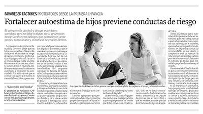 Fortalecer autoestima de hijos previene conductas de riesgo – Diario El Sur