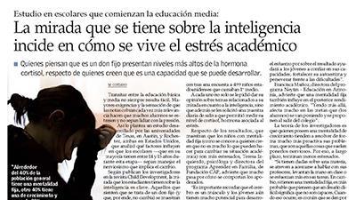La mirada que se tiene sobre la inteligencia incide en como se vive el estrés académico – El Mercurio