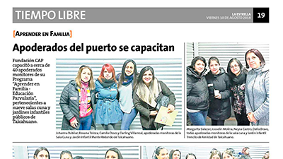 Apoderados del puerto se capacitan – Estrella de Concepción