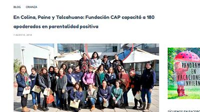 En Colina, Paine y Talcahuano: Fundación CAP capacitó a 180 apoderados en paternalidad positiva – Buen Crecer
