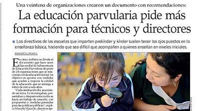 La educación parvularia pide más formación para técnicos y directores – El Mercurio
