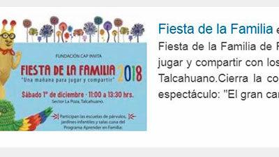 Fiesta de la Familia – Agenda VIP, Panoramas