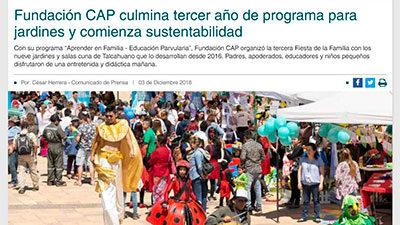 Fundación CAP culmina tercer año de programa para jardines – Diario Concepción, Ciudad