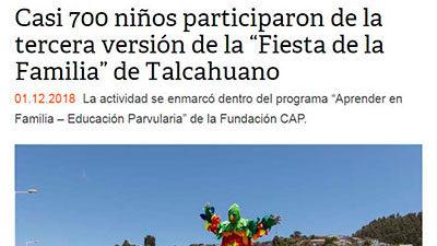 Casi 700 niños participaron de la tercera versión de la «Fiesta de la Familia» de Talcahuano – Soy Concepcion, Noticias