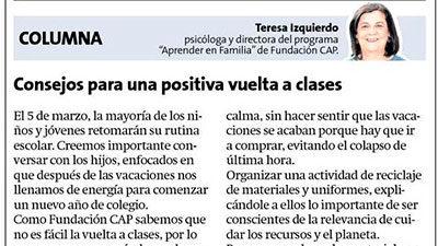 Consejos para una positiva vuelta a clases- La Estrella de Concepción