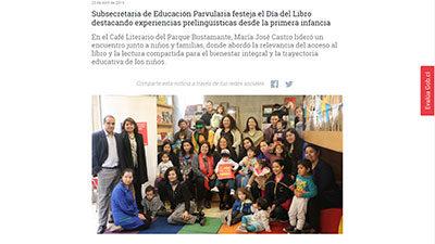 Subsecretaria de Educación Parvularia festeja Día del Libro destacando experiencias prelingüísticas desde la primera infancia – Gobierno