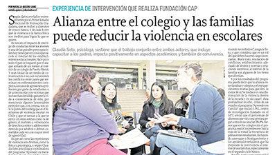 Experiencia de Intervención que realiza Fundación Cap – Tendencias, El Sur de Concepción