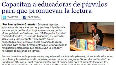Diario Chañarcillo, Crónica