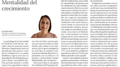 Mentalidad del Crecimiento |  Diario Concepción